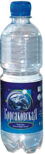 Чистая питьевая вода 0.5 л, артезианская 1-й категории