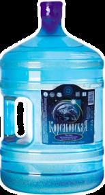 """Чистая артезианская бутилированная питьевая вода """"Корсаковская"""" 19л."""